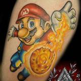Super Mario Tattoo Design Thumbnail